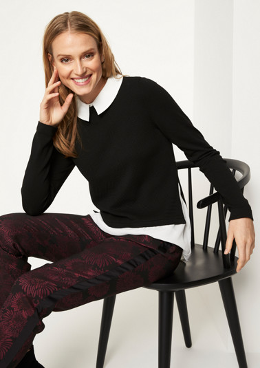Knit jumper in a sophisticated layered look from comma