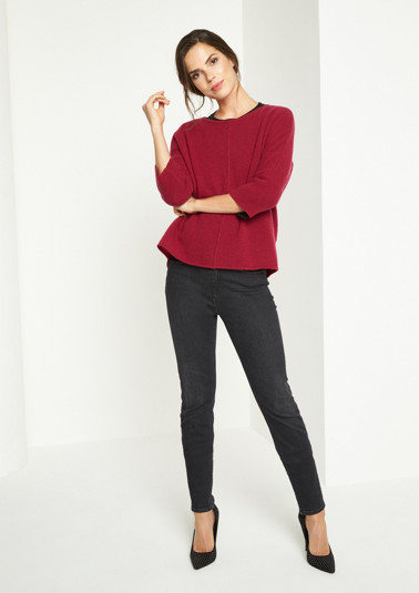 Soft knit jumper with 1/2-length sleeves from comma