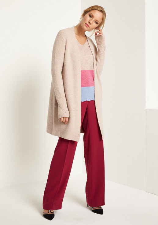 Super soft knit jumper with colour blocking from comma