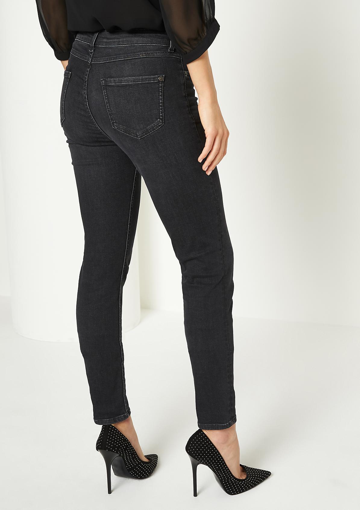 Slim Fit-Jeans im Used-Look