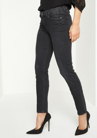 Slim Fit-Jeans im Used-Look