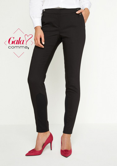 Elegant business trousers with decorative shiny buttons from comma