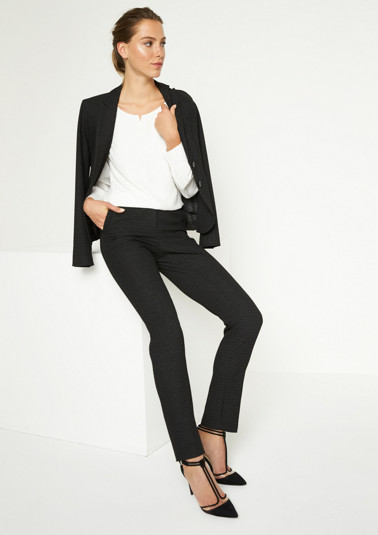 Elegant business trousers with a minimal pattern from comma