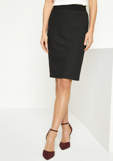 Business skirt with a decorative minimal pattern from comma