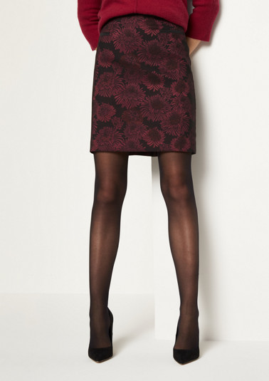 Short skirt with a pretty jacquard pattern from comma