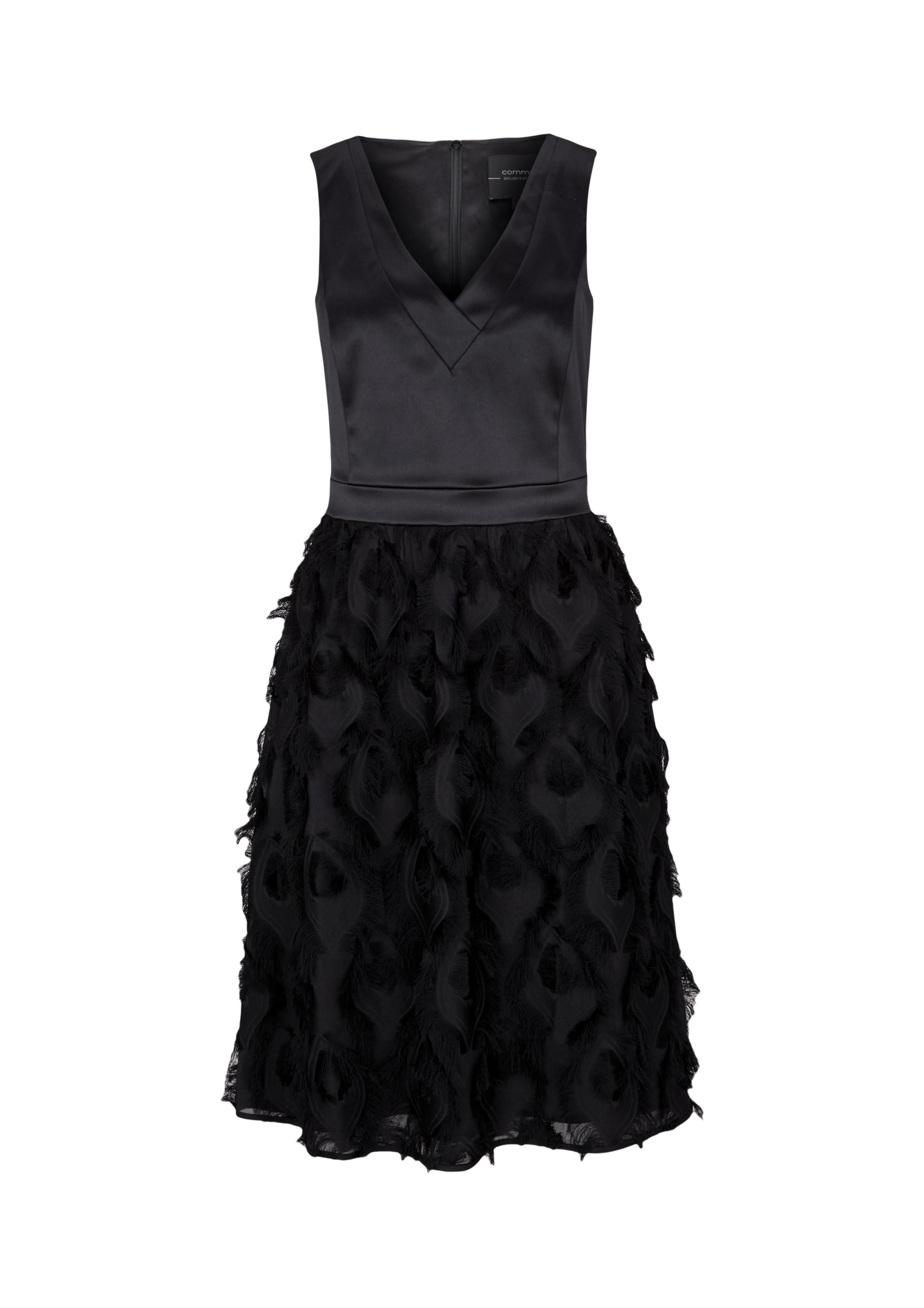 Abendkleid | Bekleidung > Kleider > Abendkleider | Grau/schwarz | 100% polyester| futter: 100% polyester | comma
