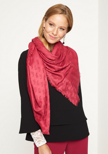 Lightweight scarf with a comma logo pattern from comma