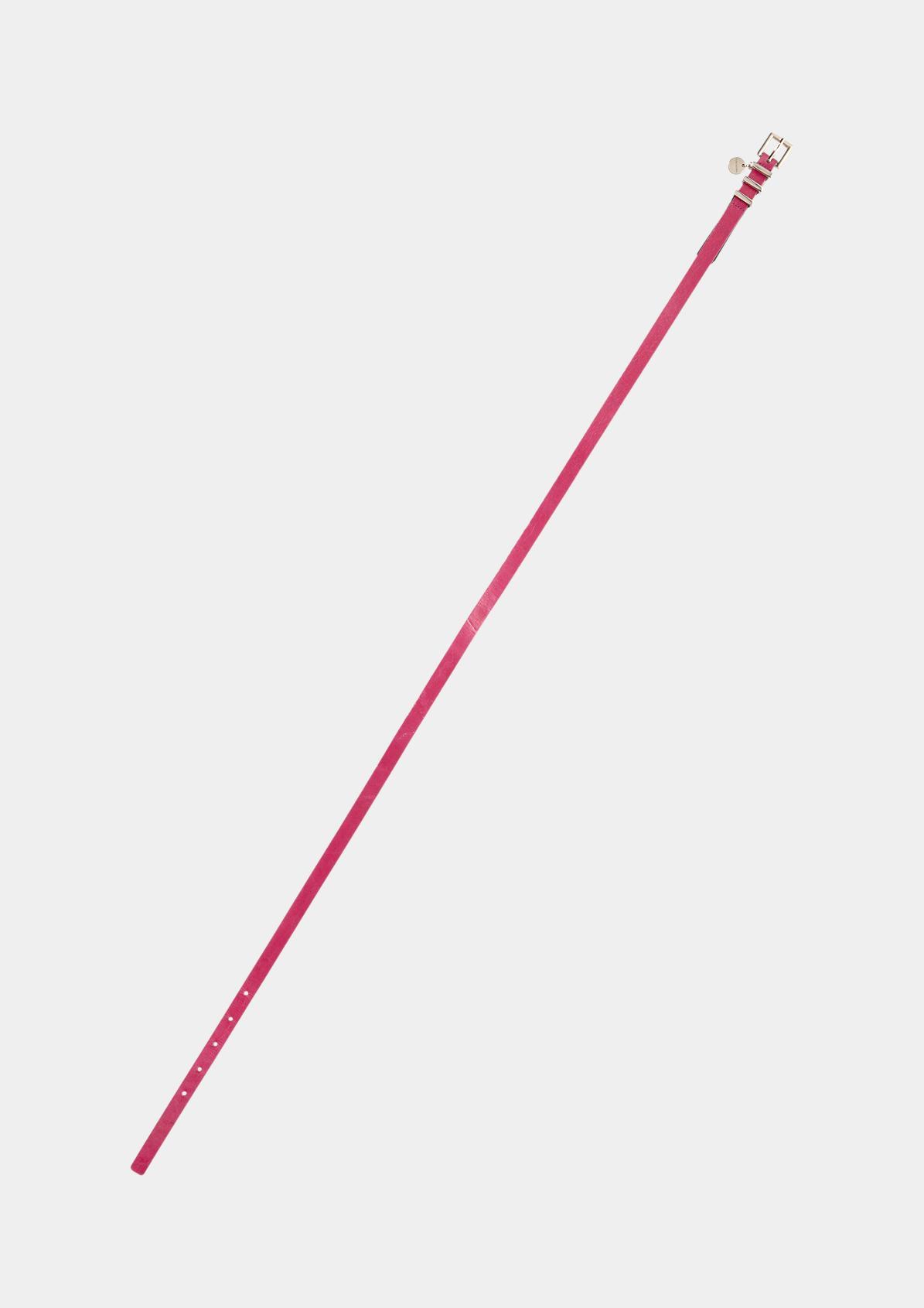 Schmaler Ledergürtel mit comma-Anhänger