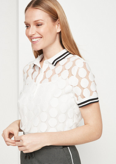Delicate lace blouse from comma