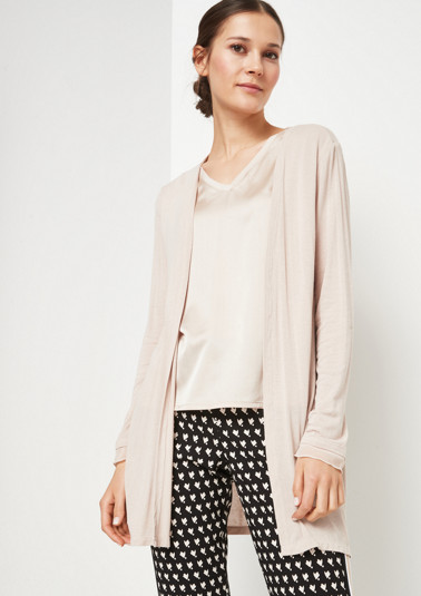 Long cardigan with chiffon details from comma