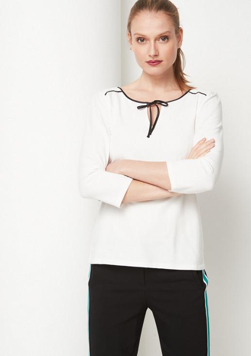 3/4-Arm Jerseyshirt mit dekorativen Details
