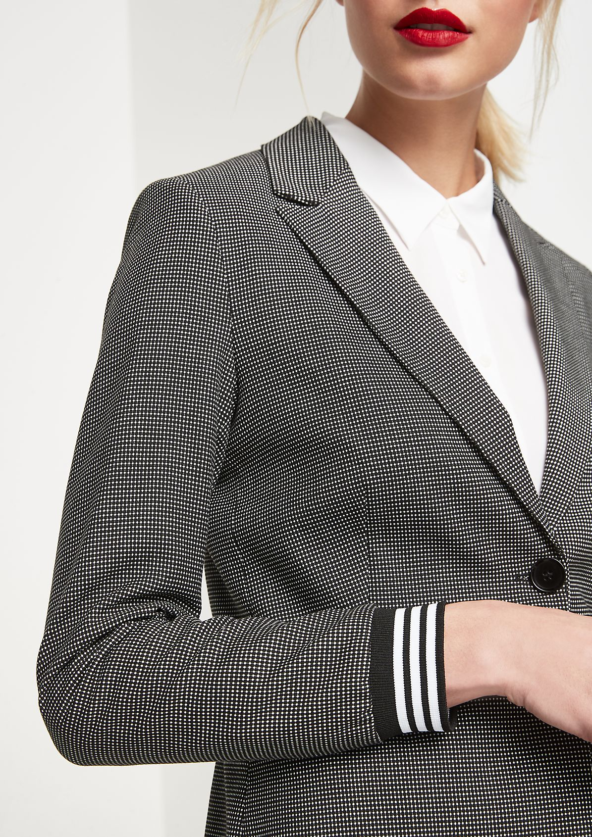 Businessblazer mit dekorativem Minimalmuster