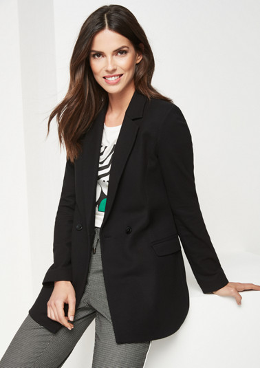 Double-breasted business blazer from comma