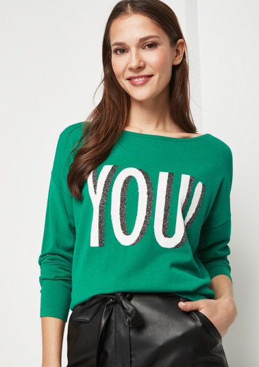 Fine knit jumper with smart details from comma