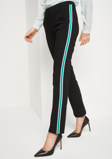Casual trousers with multicoloured side stripes from comma