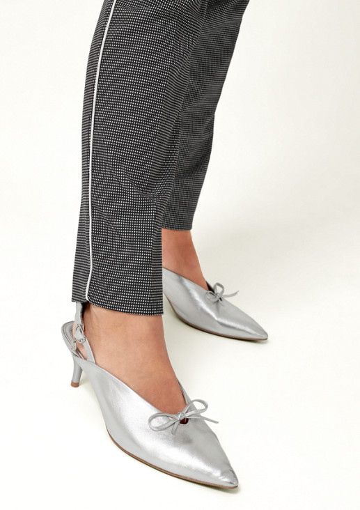Businesspants mit dekorativem Minimalmuster