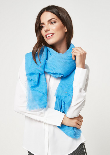 Lightweight rib knit scarf from comma