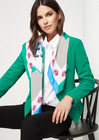 Satin scarf with a sophisticated pattern from comma