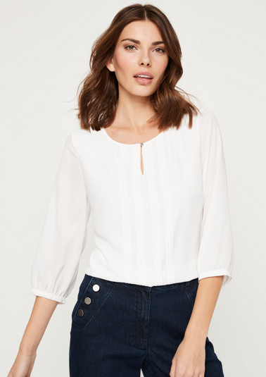 Crêpe blouse with pintuck embellishment from comma