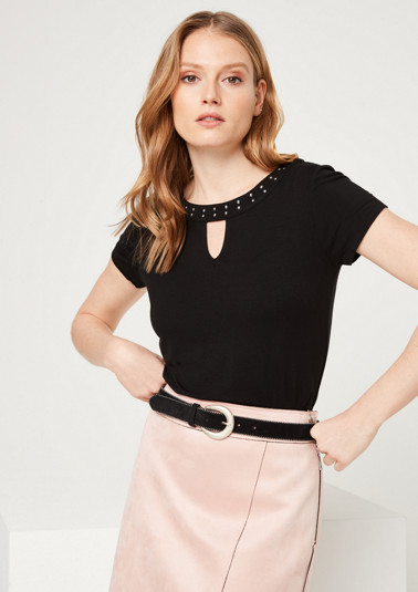 Short sleeve top wit decorative studs from comma