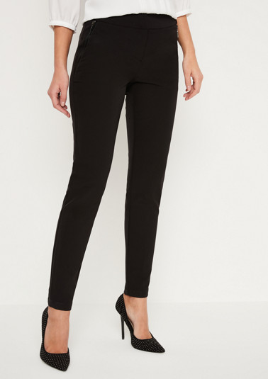 Elegant business trousers with sophisticated details from comma