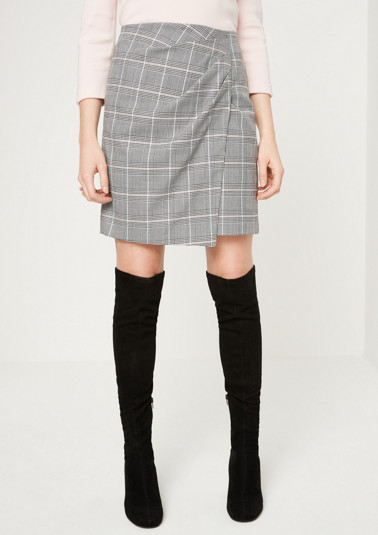 Mini business skirt with a check pattern from comma