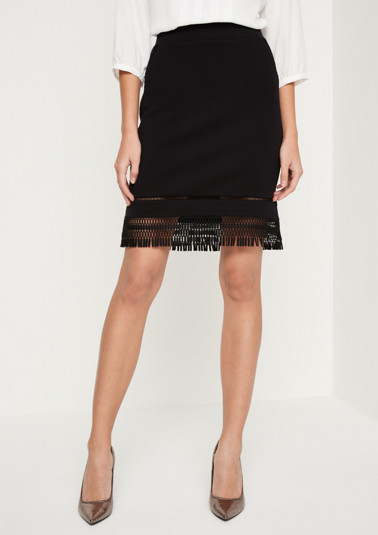 Short skirt with exciting details from comma