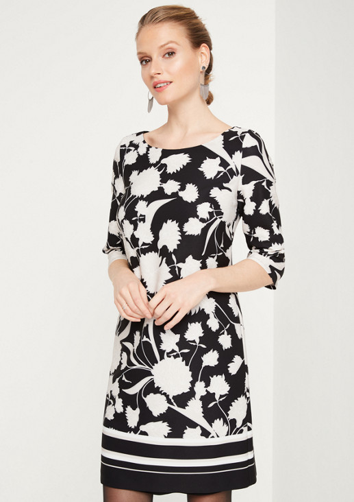 Businesskleid mit dekorativem Floral-Allovermuster