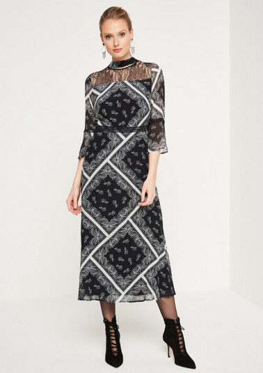 Maxi dress with delicate lace embellishments from comma