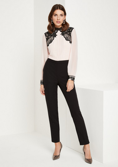 Extravagant business jumpsuit with decorative lace from comma