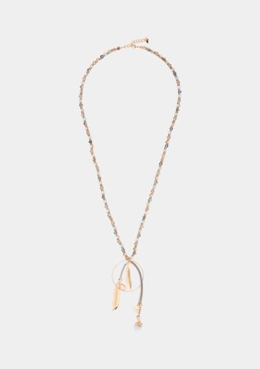 Collier en pierres scintillantes à pendentifs de Comma