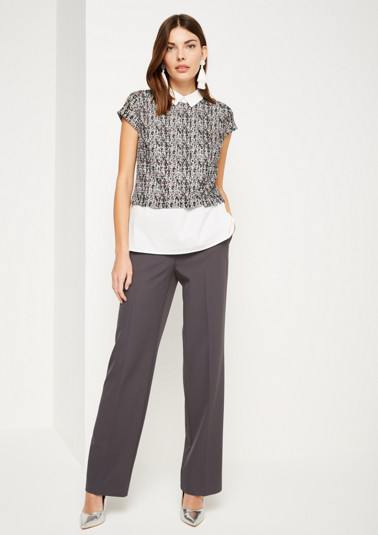 Pullover mit mehrfarbigen Bouclé-Muster