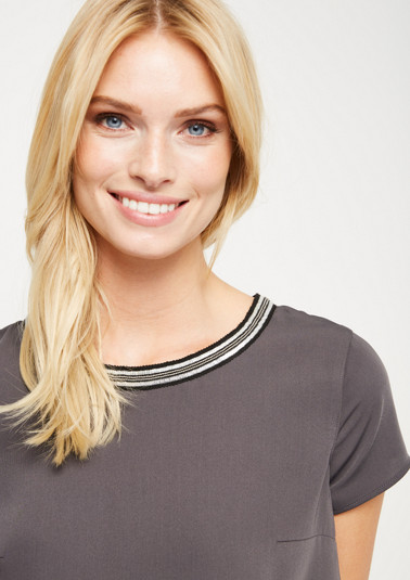 Short sleeve blouse in a decorative layered look from comma