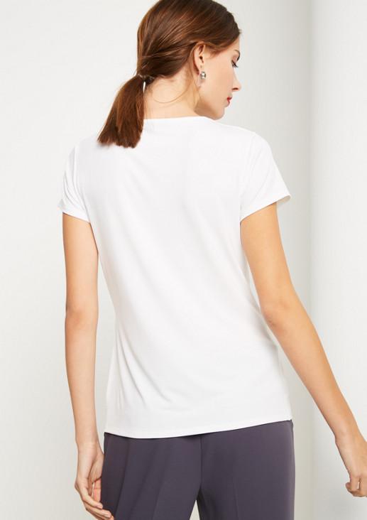 Jerseyshirt im smarten Stufenlook