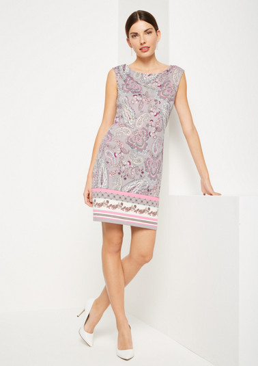 Lightweight casual dress with an all-over pattern from comma