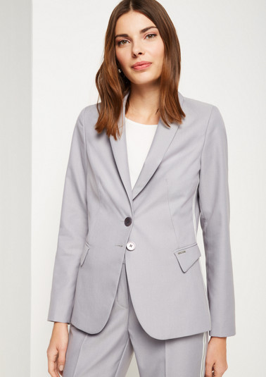 Business blazer with decorative stripes on the sides from comma