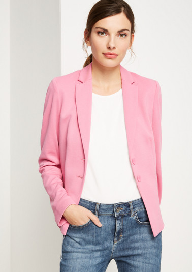 Soft jersey blazer from comma