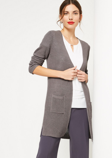 Casual cardigan with patch pockets from comma