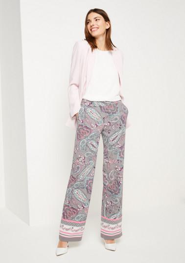 Krepp-Loungepants mit farbenprächtigem Paisleyprint