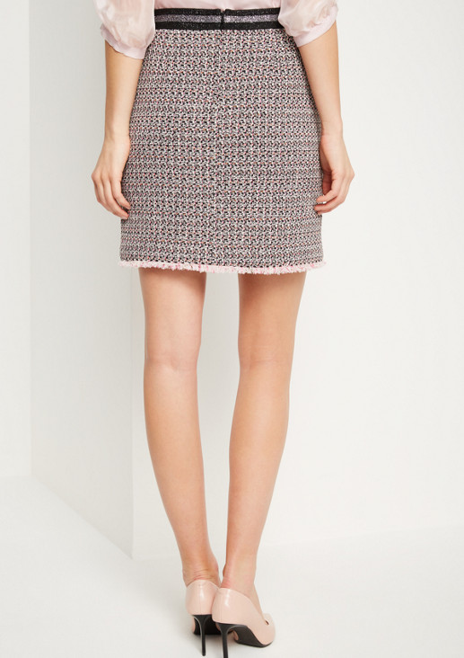 Short skirt in an extravagant bouclé look from comma