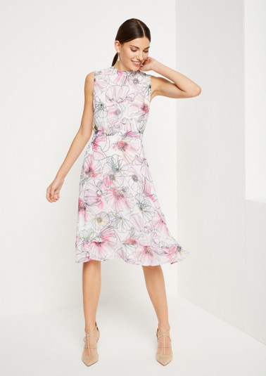 Evening dress in delicate chiffon from comma