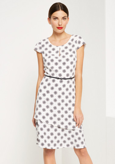 Extravagant dress with colourful all-over pattern from comma