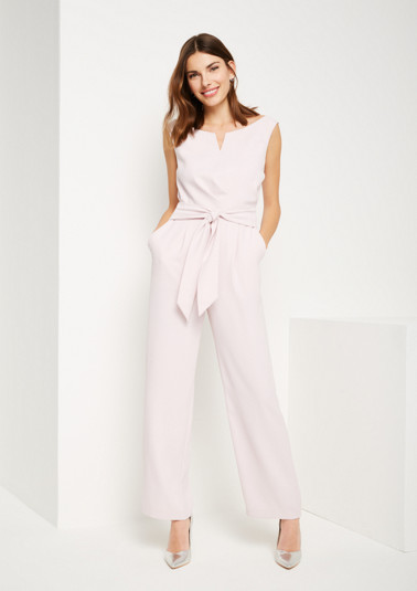 Business-Jumpsuit aus leichtem Krepp