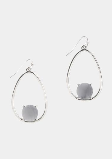 Boucles d'oreilles argentées ornées de pierres fantaisie de Comma