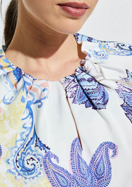 Satin blouse in a mix of patterns from comma