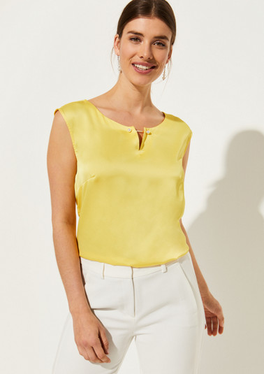Lightweight top made of shiny satin from comma