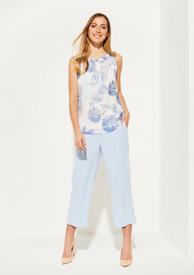 Crêpe top with a colourful all-over pattern from comma
