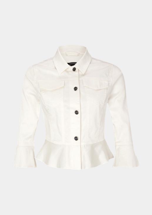Jeansjacke aus matt glänzendem Satin