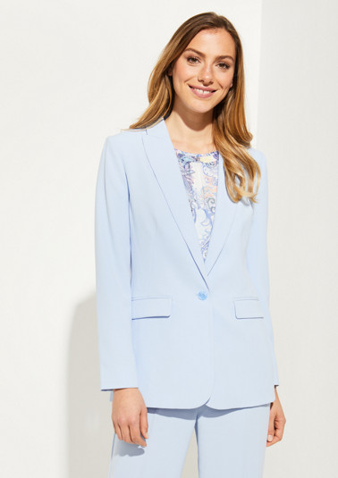 Elegant crêpe blazer with smart details from comma
