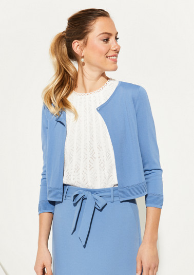 3/4-sleeve cardigan in a bolero look from comma